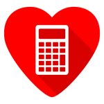 Calculator on red heart