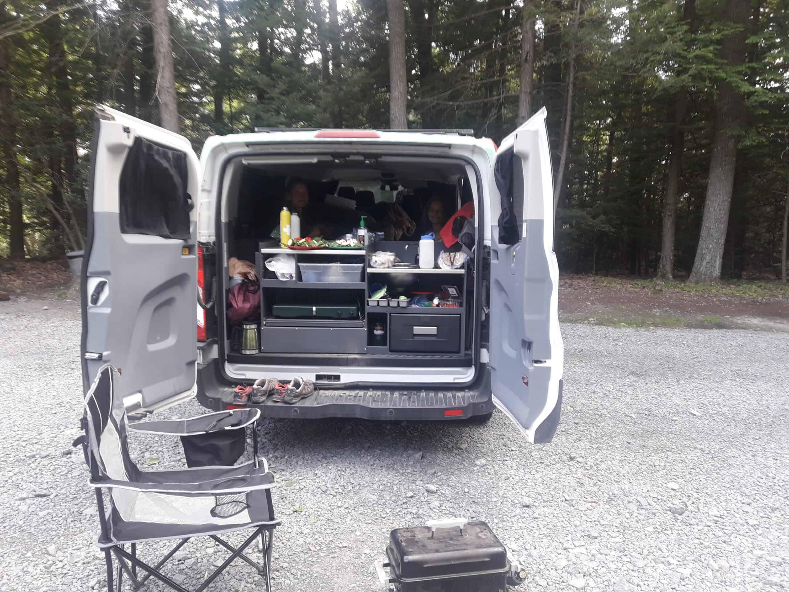van cooking