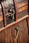 vintage chest and key