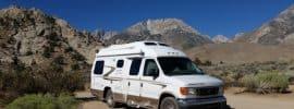 Van in Sierras